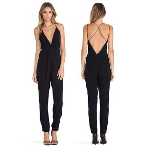 Lovers + Friends My Way Strappy Black Jumpsuit